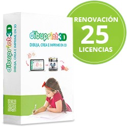 Renovación Anual (Pack Edu) Dibuprint3D Medium Soporte GOLD 25