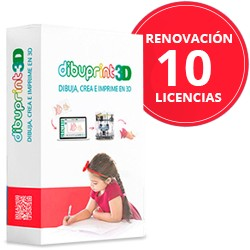 Renovación Anual (Pack Edu) Dibuprint3D Small Soporte GOLD 10