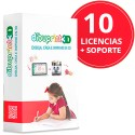 Dibuprint3D Small - 10 Licencias + Soporte GOLD 8x5