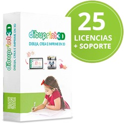 Dibuprint3D (Pack Edu) Medium Soporte GOLD 8x5 Licencias 25